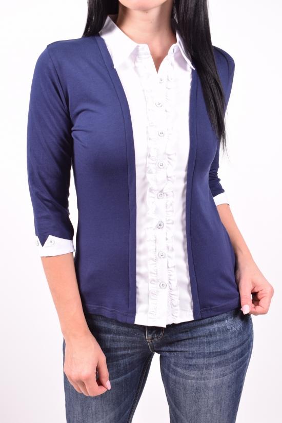 Блузка женская  стрейчевая  BASE Размеры в наличии : 40,42,44,46,48 арт.B6099-1