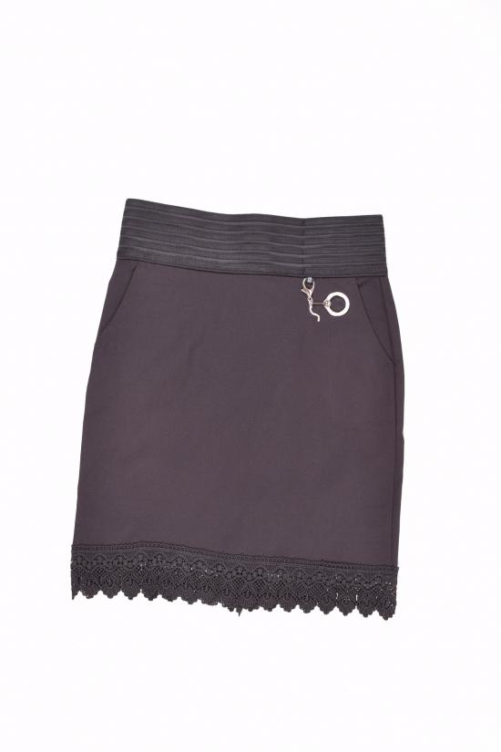 Юбка для девочки стрейчевая (цв.чёрный) Fudeyan Рост в наличии : 134, 140, 146, 152, 158, 164, 170 арт.677