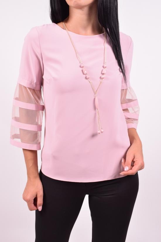 Блузка женская шифоновая (цв.пудры) ESAY Размеры в наличии : 42,44,46 арт.8487