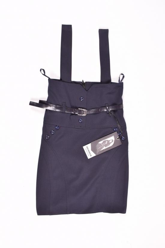Сарафан-юбка для девочки (цв.т/синий) HEMBER Роста в наличии : 128,134,140,146,152 арт.046