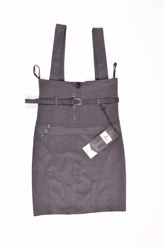 Сарафан-юбка для девочки (цв.серый) HEMBER Роста в наличии : 128,134,140,146,152 арт.048