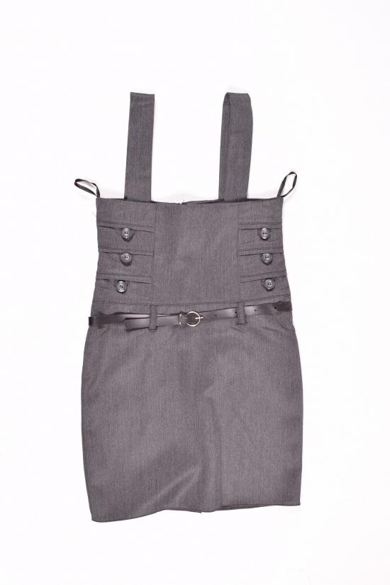Сарафан-юбка для девочки (цв.т/серый) HEMBER Роста в наличии : 128,134,146,152 арт.049