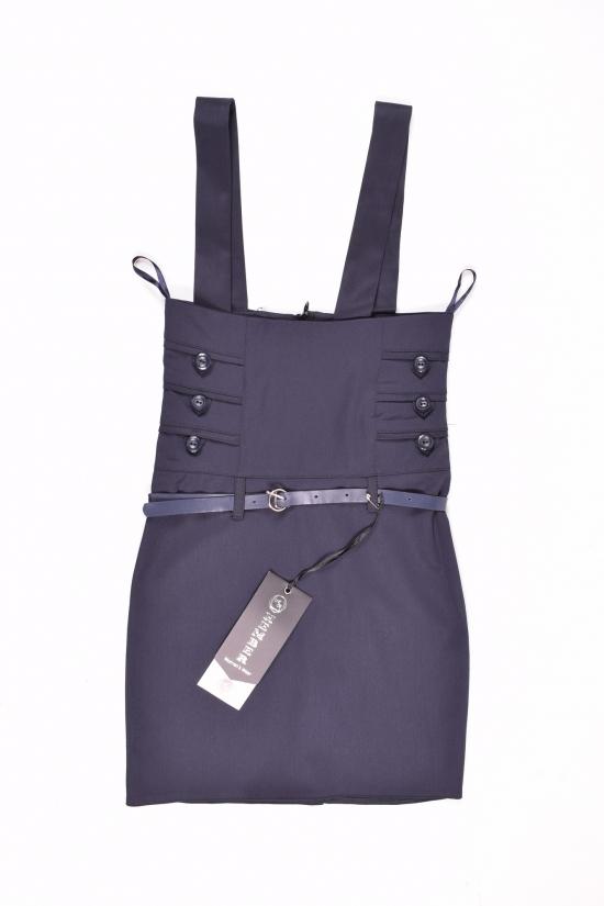 Сарафан-юбка для девочки (цв.т/синий) HEMBER Роста в наличии : 128,140,152 арт.049