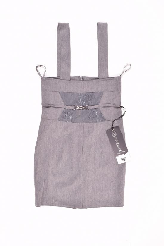 Сарафан-юбка для девочки (цв.серый) HEMBER Роста в наличии : 128,152 арт.12