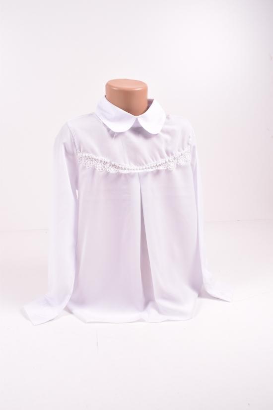 Блузка для девочки (цв.белый) Blueland Роста в наличии : 128,140,152,164 арт.2175