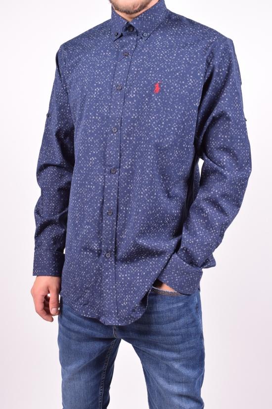Рубашка мужская стрейчевая (цв.т.синий) POLO Размеры в наличии : 50,52,54,56 арт.POLO