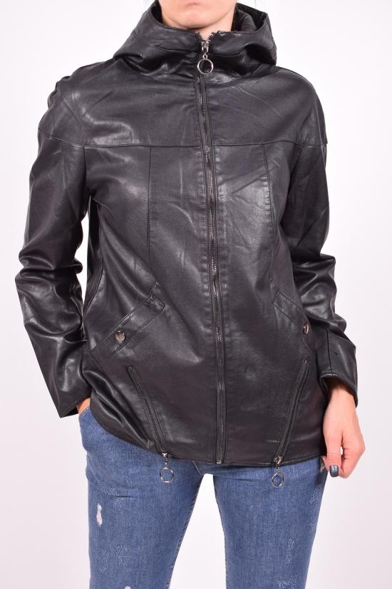 Куртка женская из кожзаменителя Размеры в наличии : 46,48,50,54 арт.M69