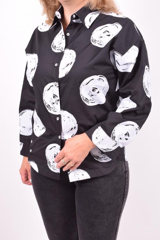 Рубашка женская (цв.чёрный) BASE Размеры в наличии : 42,44,46,48,50 арт.A1689