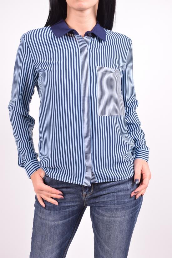 Рубашка женская (цв.т.синий/голубой) QIANZHIDU Размеры в наличии : 42,44,46,48,50 арт.13033