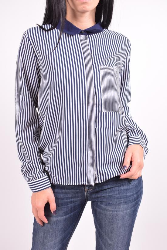 Рубашка женская (цв.т.синий/белый) QIANZHIDU Размеры в наличии : 42,44,46,48,50 арт.13033