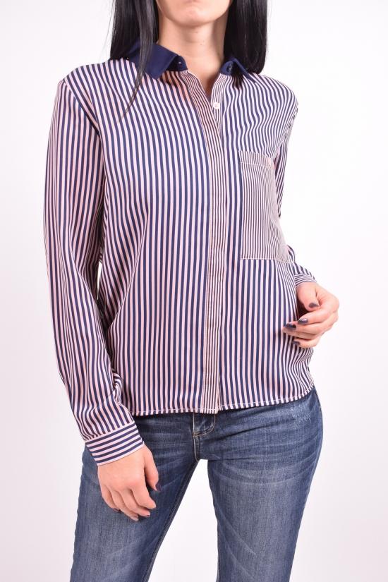 Рубашка женская (цв.т.синий/пудры) QIANZHIDU Размеры в наличии : 42,44,46,48,50 арт.13033