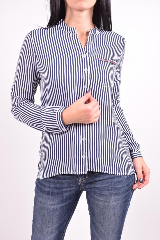 Рубашка женская (цв.т.синий/белый) QIANZHIDU Размеры в наличии : 42,44,46,48,50 арт.13035