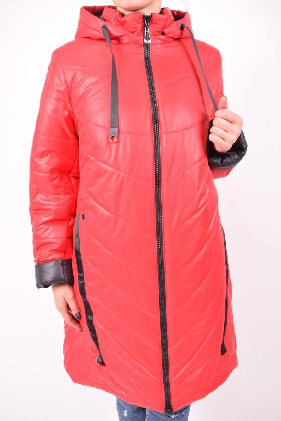 Пальто женское (цв.красный) демисезонное болоньевое DEVALIS Размер в наличии : 54 арт.S52