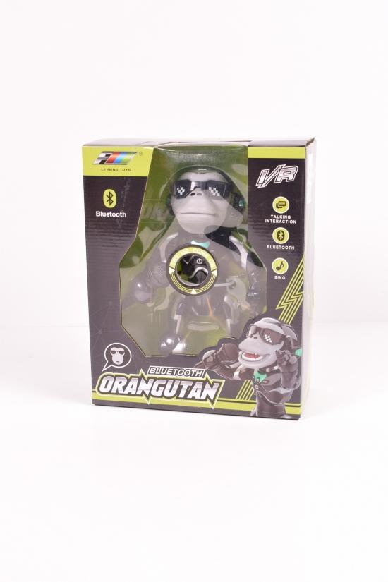 Робот обезьяна на батарейках (свет,звук, поет) 26см арт.Q2