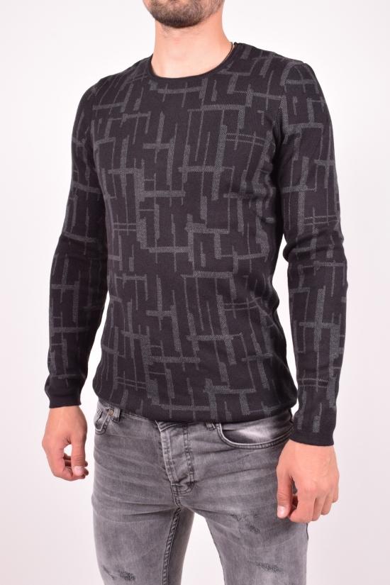 Свитер мужской (цв.черный/серый) тонкой вязки Lagos Размеры в наличии : 46,48,50,52 арт.2480
