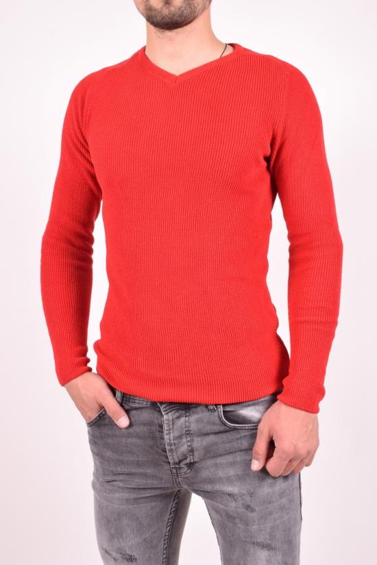 Пуловер мужской (цв.красный) тонкой вязки LAGOS Размеры в наличии : 46,50,52 арт.2548