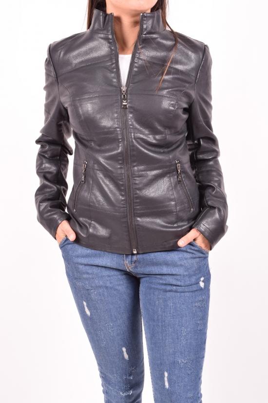 Куртка женская (цв.черный) из кожзаменителя демисезонная Размеры в наличии : 38,40,42 арт.H-92