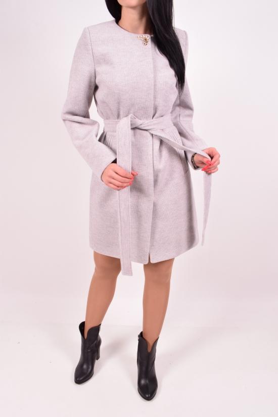 Пальто женское демисезонное (цв.св.серый) JOLLY Размер в наличии : 54 арт.Мишель К