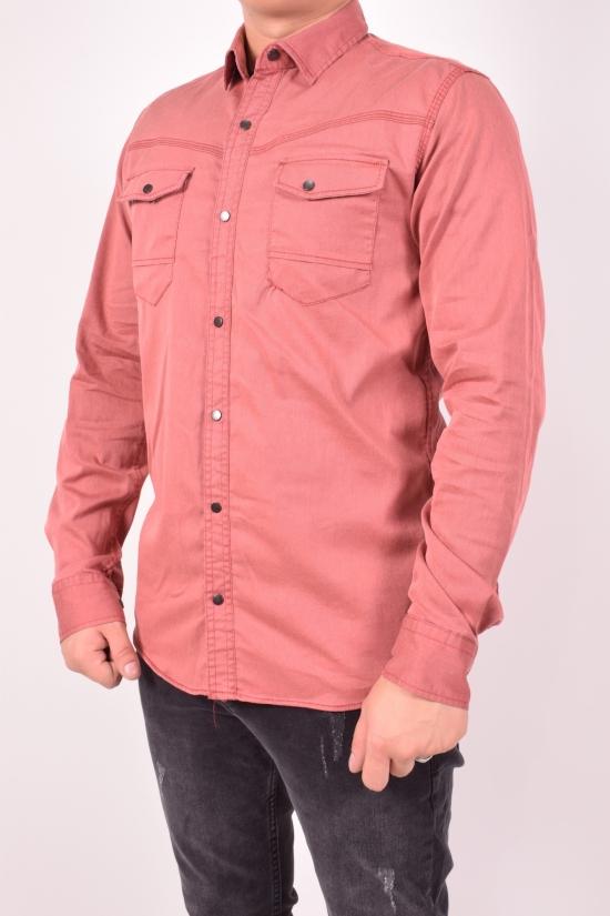 Рубашка мужская стрейчевая (цв.коралловый) Hansey Размеры в наличии : 44,46,48,50,52 арт.Hansey
