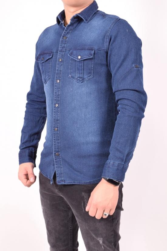 Рубашка мужская джинсовая стрейчевая Ronex Размеры в наличии : 44,46,48 арт.1236