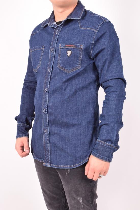 Рубашка мужская джинсовая  Cobbelti Размеры в наличии : 44,46,48,52 арт.1190-78
