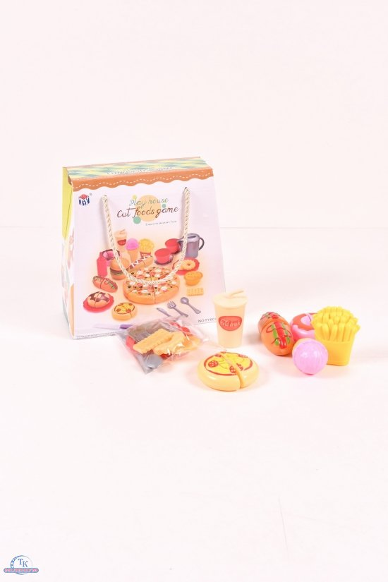 "Набор продуктов ""Фаст фуд"" пицца, бургер, хот-доги, десерты, посуда арт.TY6016-1"