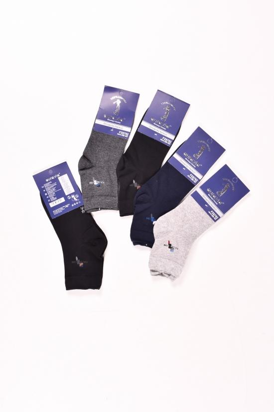 Носки мужские всесезонные Aura Via размеры 39-46 (Cotton 90%,Elastane 5%,Polyamide 5%) арт.FZ6782