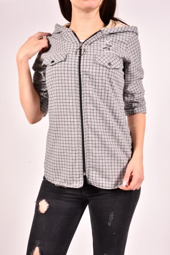 Рубашка женская байковая на меху (цв.серый) Rimoda Размеры в наличии : 40,42,46,48 арт.7597