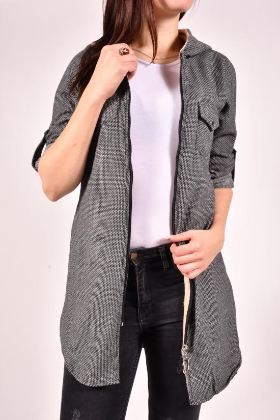 Рубашка-туника женская кашемировая на меху (цв.серый) Rimoda Размеры в наличии : 40,42,44,46,48 арт.7615