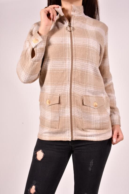 Рубашка женская кашемировая на меху (цв. кремовый) Rimoda Размеры в наличии : 40,42,44,46 арт.7782
