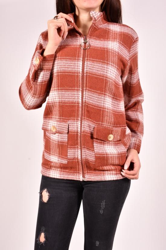 Рубашка женская кашемировая на меху (цв.терракотовый) Rimoda Размеры в наличии : 40, 44, 46 арт.7782