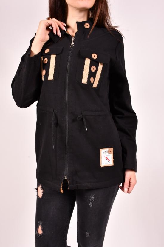 Рубашка женская на меху (цв.чёрный) Rimoda Размеры в наличии : 40,42,44,46,48 арт.7783