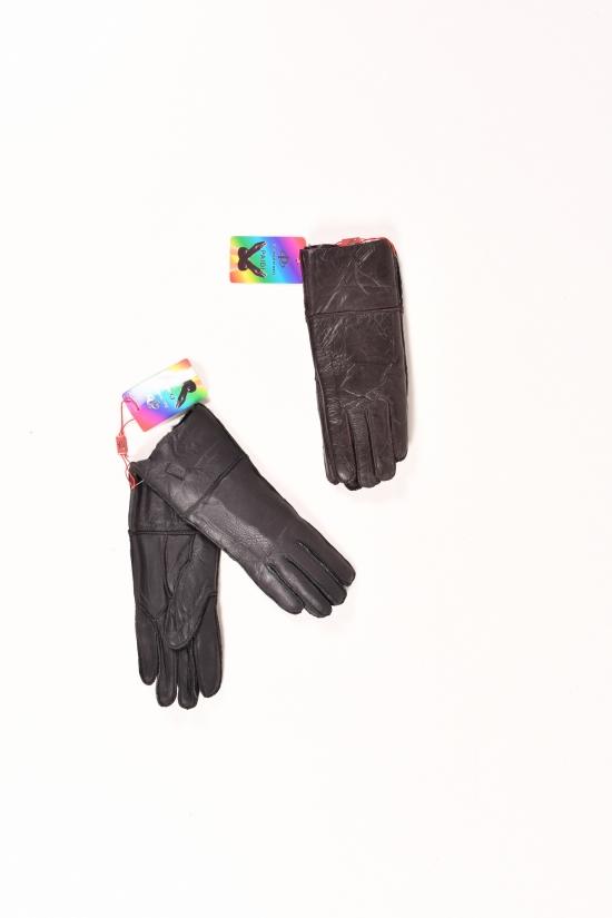 Перчатки женские из кожезаменителя с мехом PAIDI арт.934