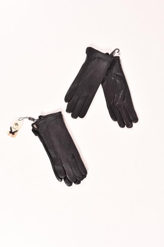Перчатки женские из кожезаменителя с мехом PAIDI арт.206-6