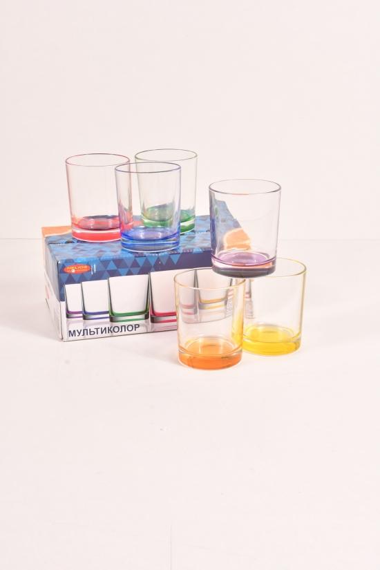Набор стаканов (Мультиколор) 6шт.  по 250 мл  HELIOS арт.8381