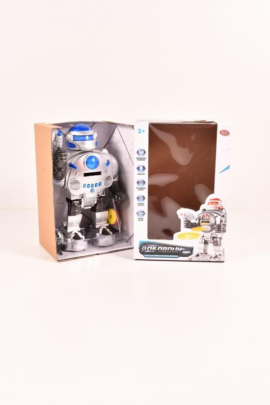 Робот на батарейках с радиоуправлением (в коробке размер 32/21,5/15,5см.) арт.9895