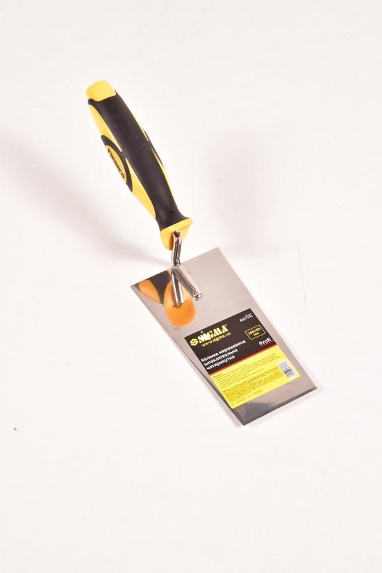 Кельма нержавеющая шпаклевочная четырехугольная  PROFI размер160х83мм арт.8327131