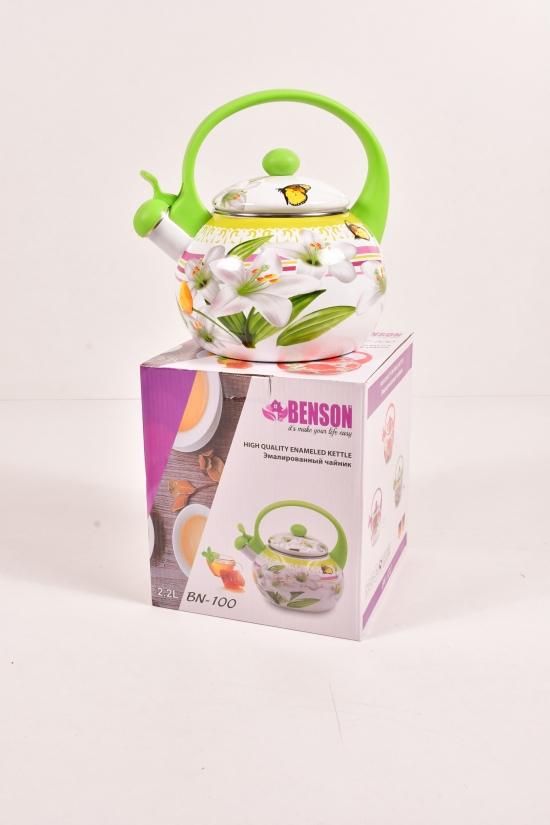 Чайник эмалированный (2,2л) Benson арт.BN-100