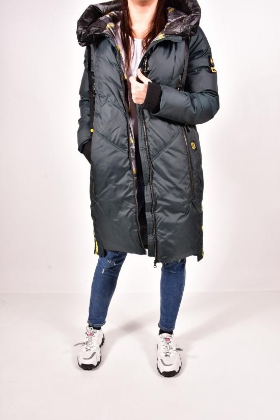 Пальто женское из плащевки зимнее (цв.зеленый) SALLY SNOW Размеры в наличии : 42,44,46,48,50 арт.898