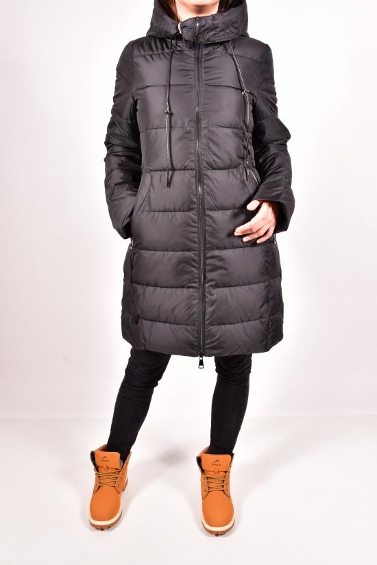Куртка женская зимняя из плащевки (цв.черный)  D.S Размеры в наличии : 42,44,46,48,50 арт.H098