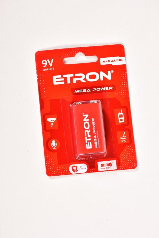 Батарейка лужная 9В ETRON арт.9V-C1