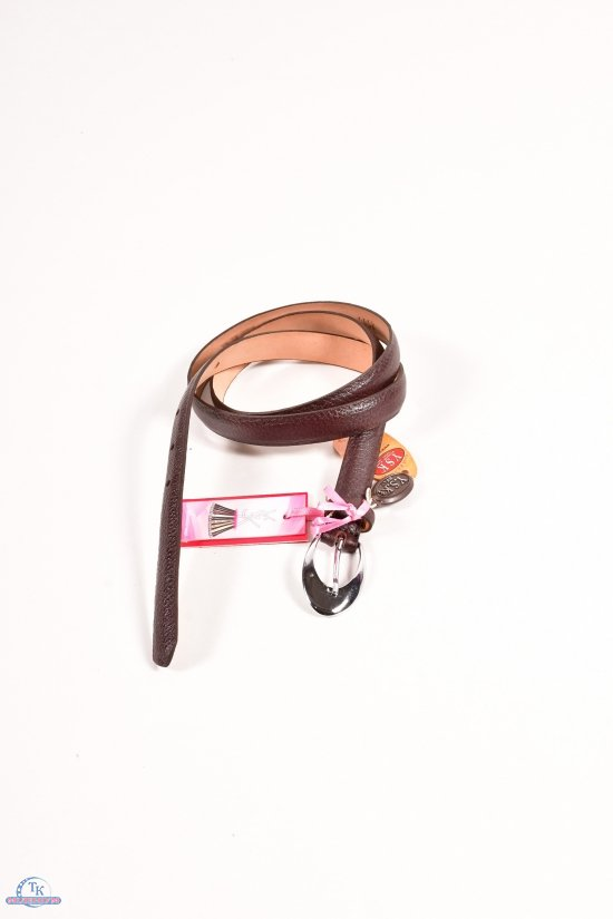 Ремень женский кожаный YSK (цв.коричневый) ширина 18мм. арт.250613
