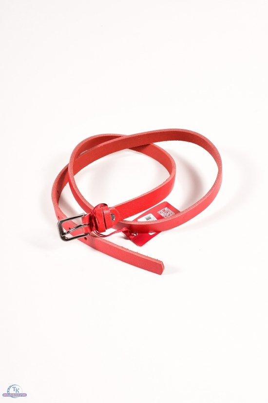 Ремень женский кожаный YSK (цв.красный) ширина 18мм. арт.8383