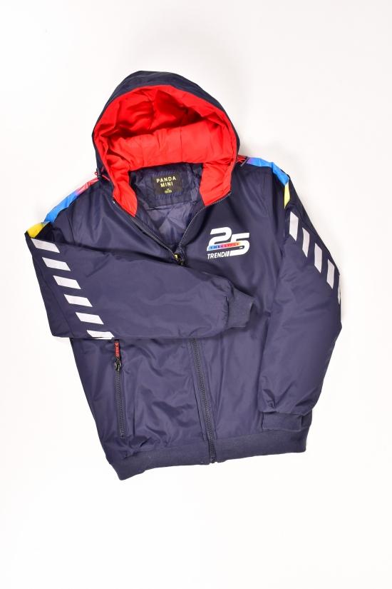 Куртка для мальчика (цв.т-синий)  из плащевки демисезонная PANDA Роста в наличии : 128,134,140,146,152 арт.PD-896