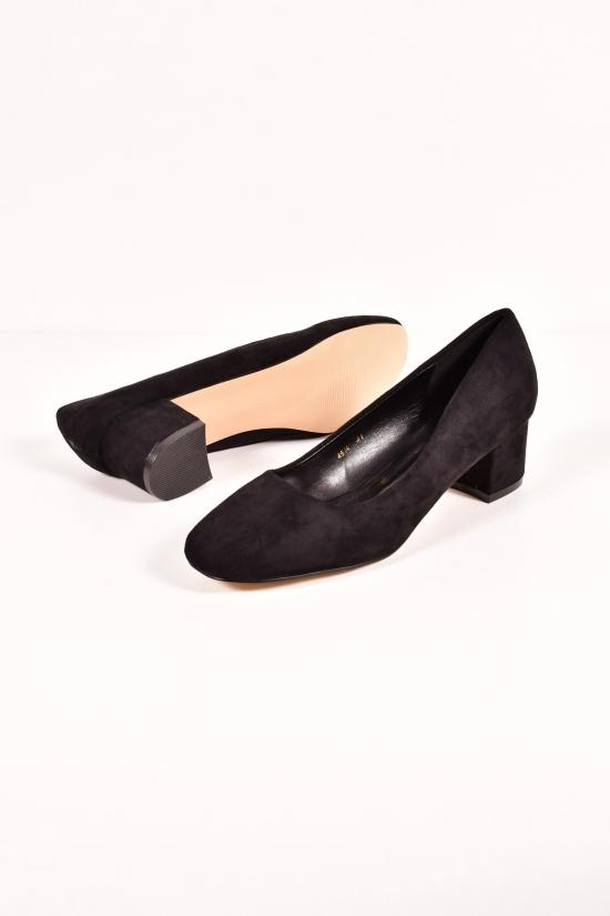 Туфли женские (цв.черный) Gukkcr Размеры в наличии : 41,42,43 арт.4514