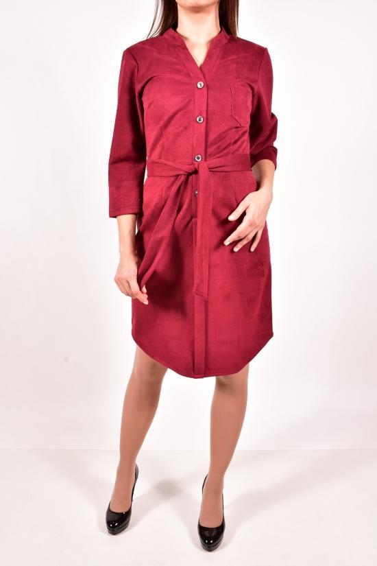 Платье женское трикотажное (цв.бордовый) Размеры в наличии : 44,46 арт.776