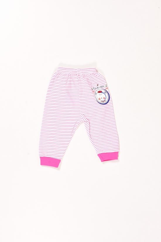 Штанишки для девочки трикотажные (цв.белый/розовый) Vitmo Baby Размеры в наличии : 62,68,74 арт.14573