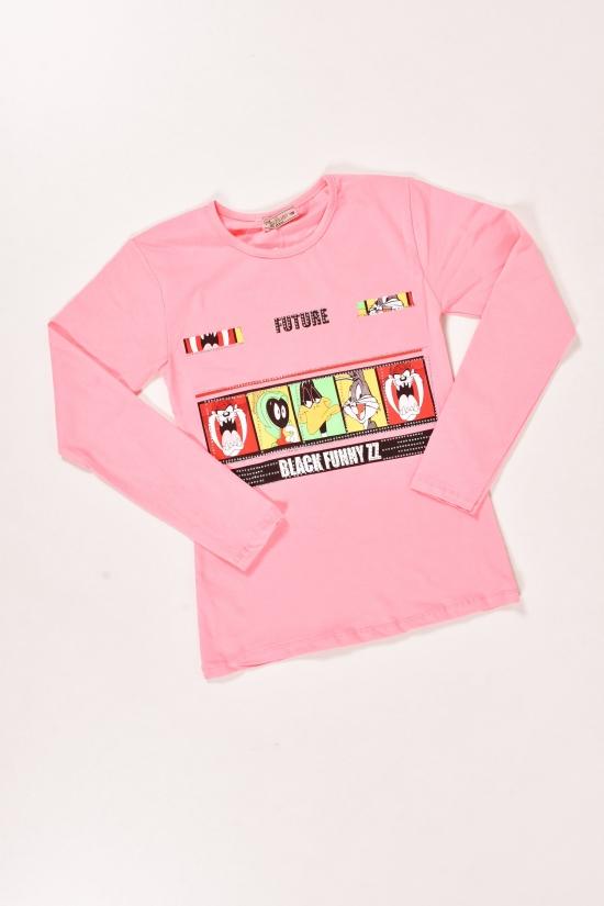 Футболка для девочки (цв.розовый) трикотажная длинный рукав NWC Рост в наличии : 158, 164, 170, 176 арт.4000