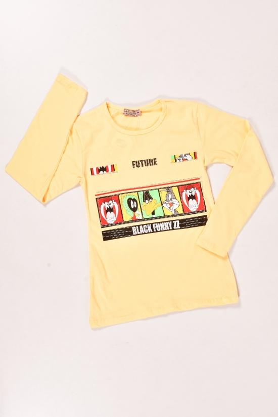 Футболка для девочки (цв.желтый) трикотажная длинный рукав NWC Рост в наличии : 158, 164, 170, 176 арт.4000