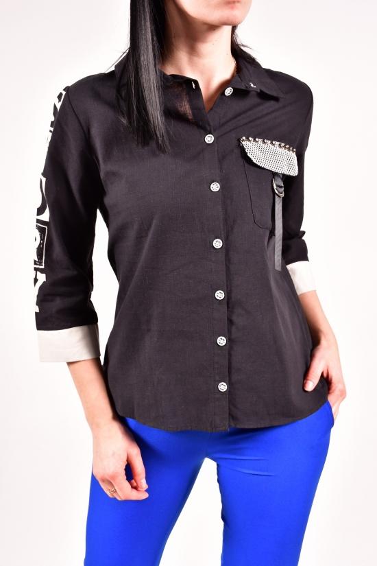 Рубашка женская (цв.черный) Размеры в наличии : 42,44,46,48 арт.15943